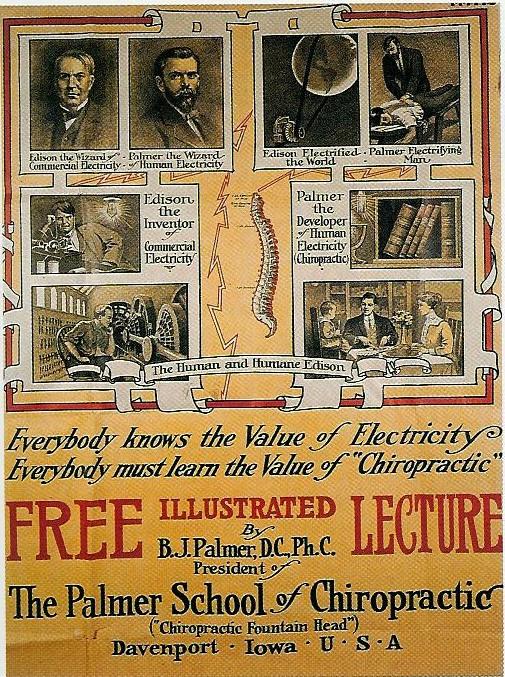 B.J. Palmer Poster 1911