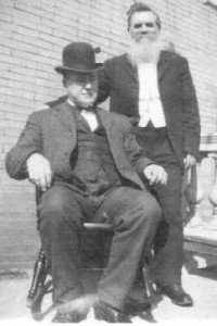 DD Palmer with Alva Gregory