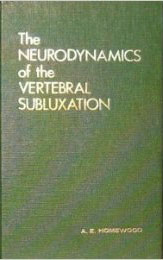 Homewood's Neurodynamics of Vertebral Subluxation (1962)